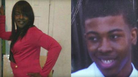 A gauche Bettie Jones, 55 ans, à droite Quintonio LeGrier, 19 ans: les deux assassinés