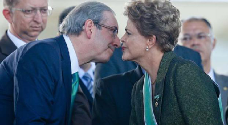 Eduardo Cunha – qui traîne de nombreuses casseroles – et Dilma Rousseff, ex-alliés, aujourd'hui ennemis