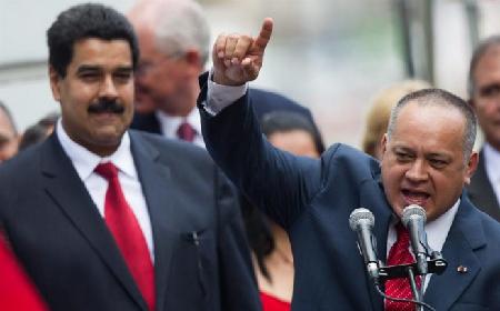 Nicolas Maduro et Diosdado Cabello, président de l'Assemblée nationale; les symboles de l'expropriation du «pouvoir populaire»