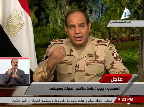 Le maréchal Sissi annonce à la TV, le 27 mars 2014, sa candidature à la présidentielle