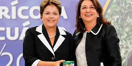 Dilma Rousseff et Katia Abreu, la cheffe d'un empire agricole, ministre qui s'occupe de cette «agriculture»