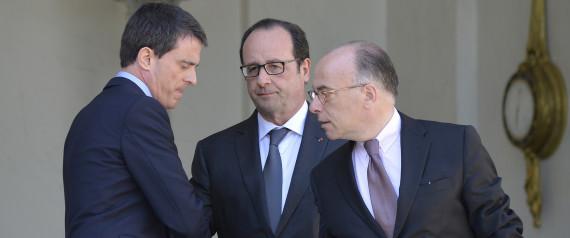 Manuel Valls, François Hollande et Bernard Cazeneuve:  ils pilotent la dérive, en urgence....