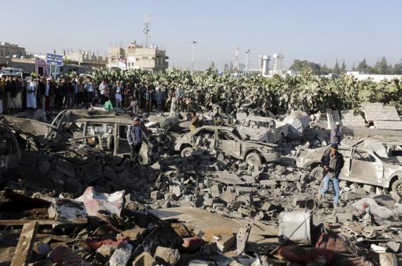 Début des bombardements sur le Yémen par la monarchie des Saoud, mars 2015