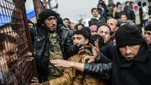 Le 6 février 2016: le camp de Bab al-Salama, près de la frontière avec la Turquie
