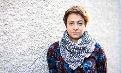 Razan Ghazzawi lors de l'Autre Davos 2016 à Zurich)
