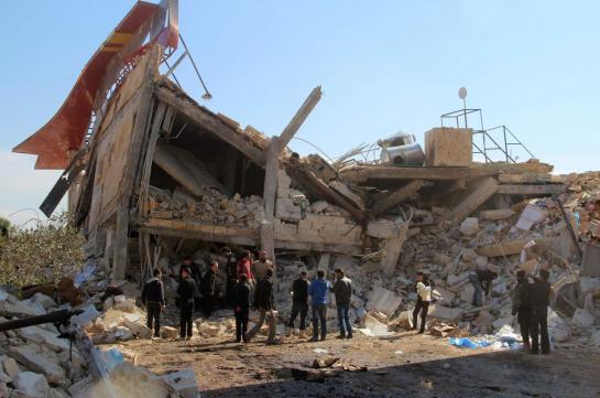 Maarat al-Numan (Syrie), lundi 15 février. Un hôpital soutenu par Médecins sans frontières a été la cible de bombardements dans la province d'Idleb.