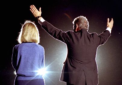 Hillary et Bill Clinton en 1992