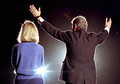 Hillary et Bill Clinton en 1992