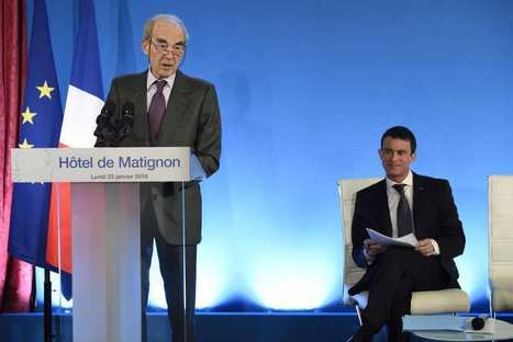 Les Echos, 28 janvier 2016: «La commission Badinter a retenu dans son rapport 61 «principes essentiels». R. Badinter et M. Valls, satisfait...