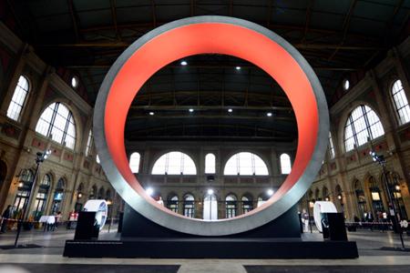 L'exposition «Gottardo» 2016 à la gare de Zurich.