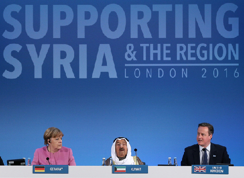 Conférence des «donateurs» à Londres, le 4 février 2016. Un cliché symptomatique