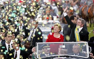 Lula et sa femme: le «triomphe de 2003»
