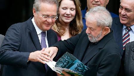 Lula et Renan Calheiros lisent la Constitution... le 9 mars 2016