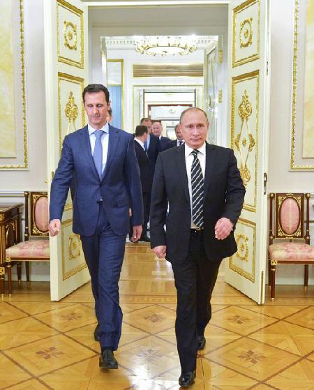 Bachar el-Assad et Vladimir Poutine en octobre 2015 à Moscou