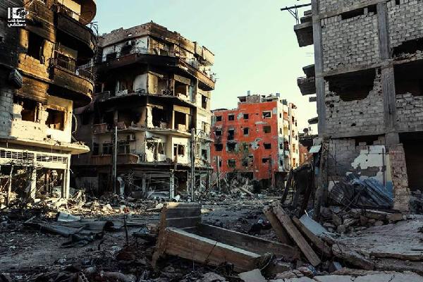 Destructions à Darayya, ville de la banlieue sud de Damas, le 19 janvier 2016 (crédits : Lens of Young Damascene)