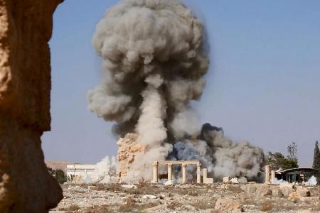 Dimanche 23 août 2015, Daech fait sauter le temple de Baalshamin à Palmyre, édifié au début du Ier siècle de notre ère