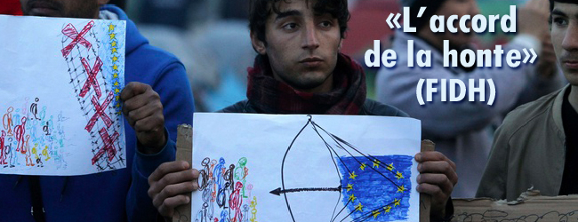 La «crise» des droits des réfugié·e·s. L'«accord» entre l'UE et la Turquie. Son «application» vue par la presse européenne