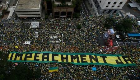 Manifestation du 13 mars 2016, à São Paulo
