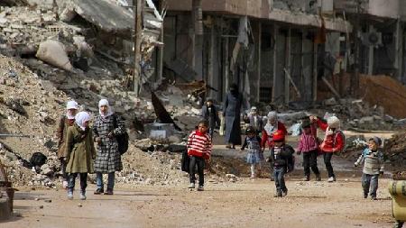 Les habitants de Deraya, ville située à quelques kilomètres des entrepôts d'aides, n'ont toujours pas reçu une miette d'aide alimentaire et de soutien médical