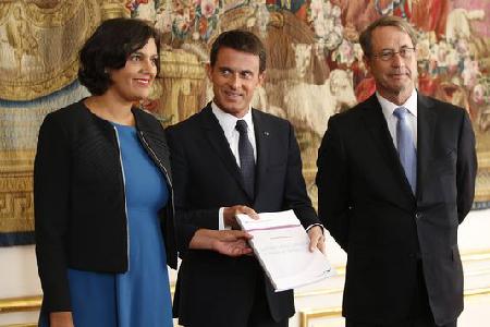 Myriam El Khomri, Manuel Valls et Jean-Denis Combrexelle