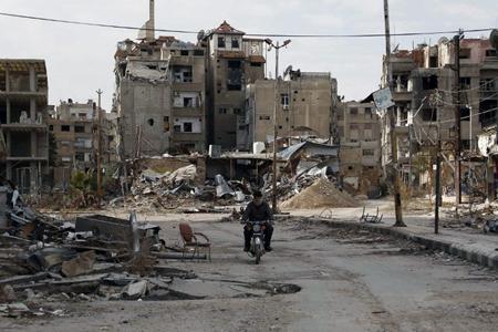 Harasta, banlieue de Damas, février 2016