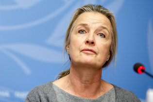 Elizabeth Hoff, cheffe de l'OMS à Damas