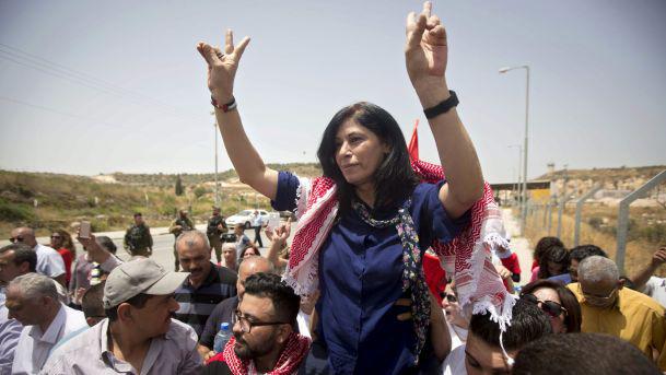 La députée palestinienne Khalida Jarrar après sa libération de prison