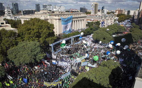 Manifestation à Buenos Aires du 29 avril 2016