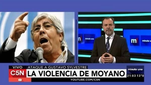 Hugo Moyano et le journaliste Gustavo Sylvestre