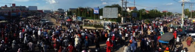 Dernier tournant avant l'arrivée à Angk Ta Kok le village natal de Kem Ley