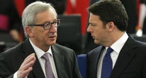 Jean-Claude Juncker et Matteo Renzi