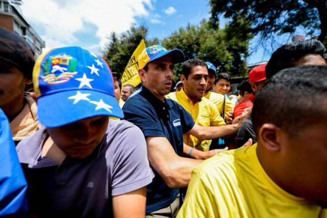 Henrique Capriles, un des leaders de l'opposition