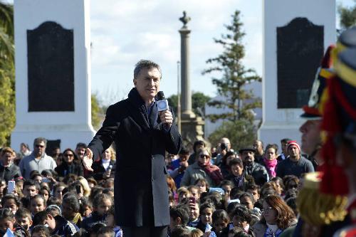 En juin 2016, Mauricio Macri fête ses six mois au pouvoir