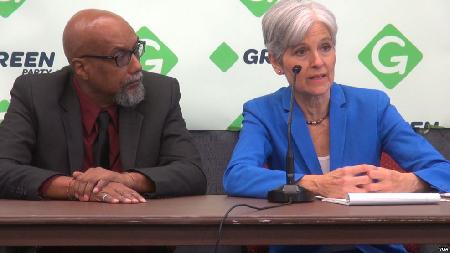 Jill Stein et Ajamu Baraka à Houston le 6 août 2016