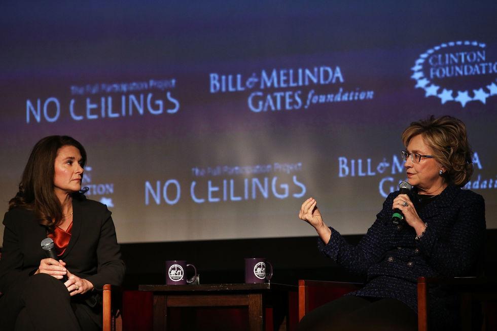 Melinda Gates et Hillary Clinton: «pas de plafond de verre». Une alliance de «fondations»....