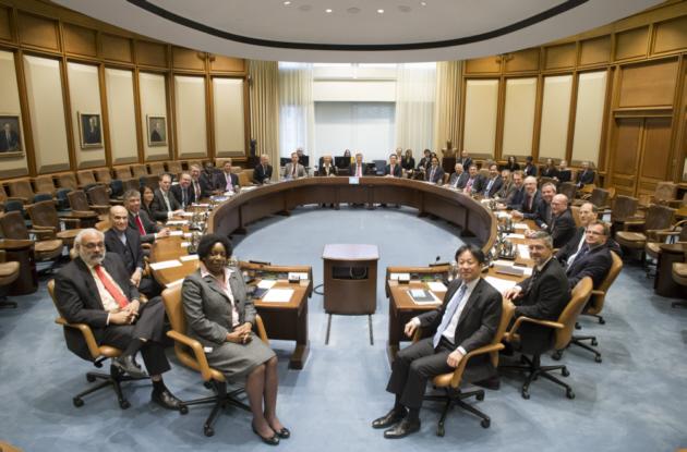 La salle de réunion du Conseil d'administration du FMI