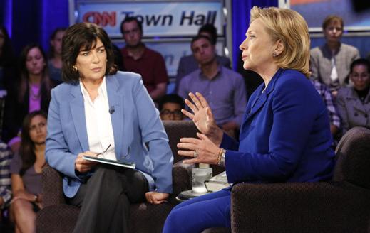 Christian Amanpour et Hillary Clinton