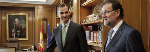 Le roi Felipe VI et Mariano Rajoy