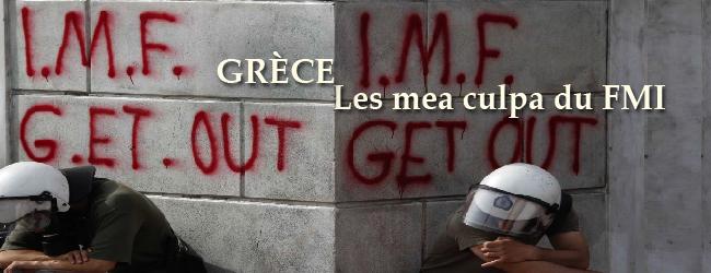Grèce: les mea culpa du FMI