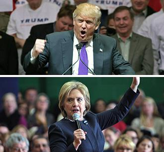 donald-trump-hillary-clinton-speaking-montage