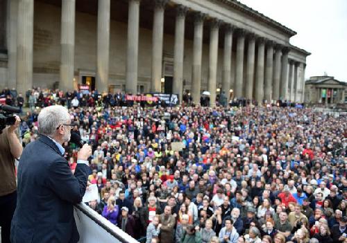 Meeting de Jeremy Corbyn à a St Georges Hall, Liverpool, le 1er août 2016