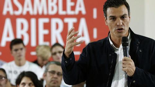 Le PSOE de Pedro Sanchez….