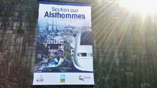 Sur une des murailles du vieux Belfort (photo Mediapart)