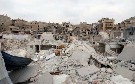 La destruction d'Alep