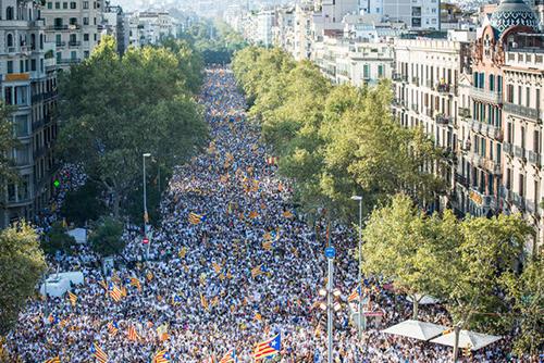 La Diada, le 11 septembre 2016 à Barcelone