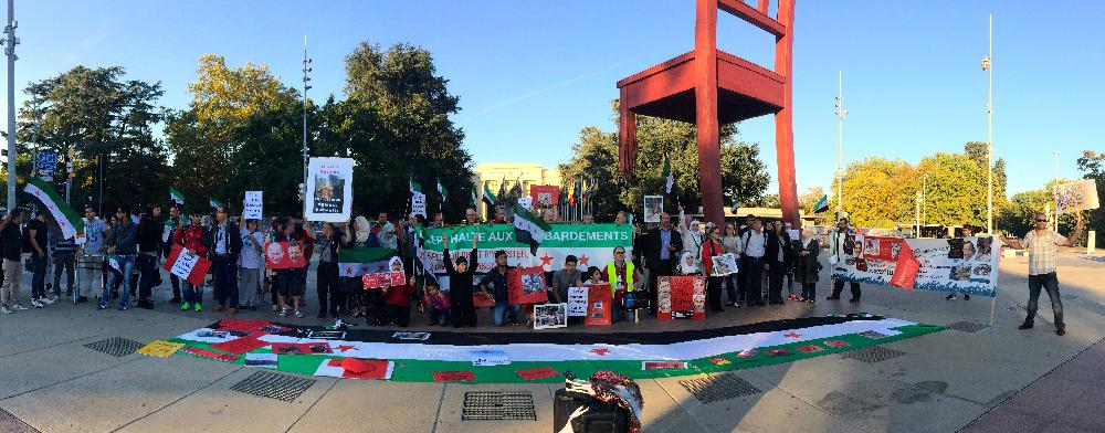 Manifestation le 30 septembre 2016 à Genève, devant l'ONU