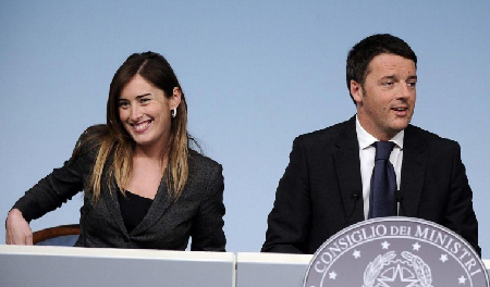 Maria Elena Boschi et Matteo Renzi