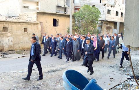 Bachar à Deraya, le 12 septembre 2016 (EPA)