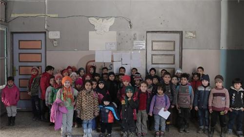 Ecole à Alep en février 2016