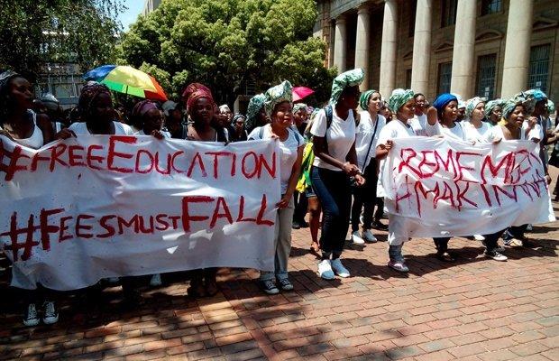 Manifestation d'étudiantes le 22 octobre 2016